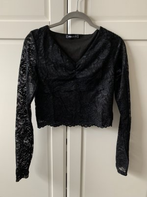 New Yorker Cropped Shirt black
