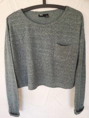 BDG Cropped Shirt pale blue-slate-gray
