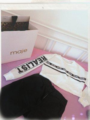 Cropped shirt wit-zwart
