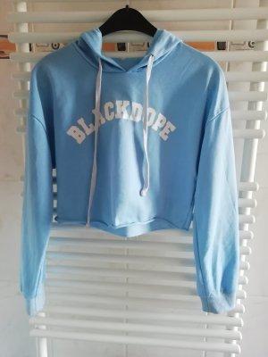 Romwe Maglione con cappuccio azzurro