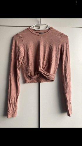 Devided von H&M Sudadera corto color rosa dorado