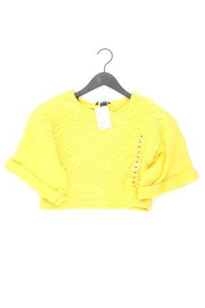Crop Pullover Größe XS neu mit Etikett gelb aus Baumwolle