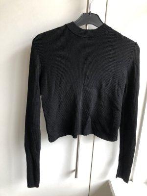 Crop Pullover mit Gewickeltem Rücken