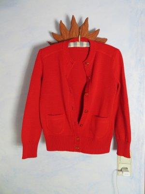 ara Gebreide cardigan rood Scheerwol