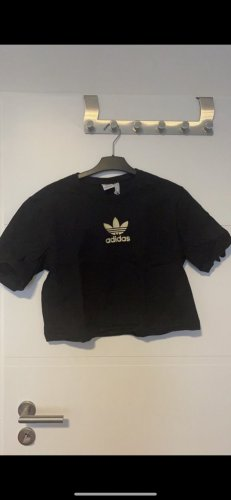 Adidas Koszula o skróconym kroju czarny