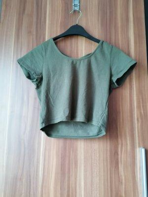 Primark Koszula o skróconym kroju khaki