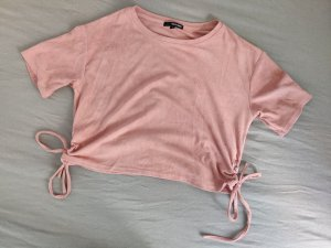 Tally Weijl Cropped Shirt rose-gold-coloured