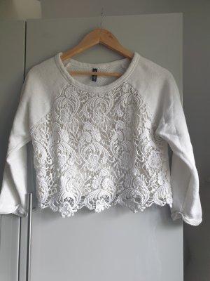 H&M Crochet Shirt oatmeal