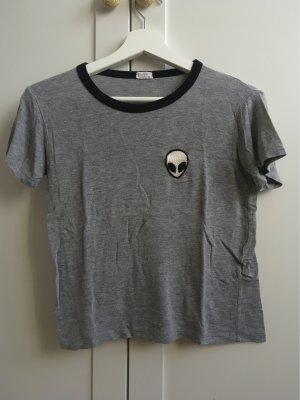 Brandy & Melville Cropped Shirt grey-black