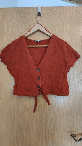 crop shirt leinen