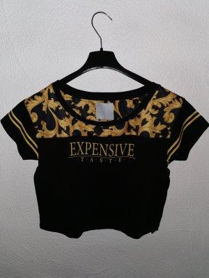 Crop Shirt mit expensive Aufschrift
