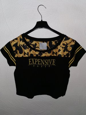 Cayler & Sons Cropped Shirt black-gold-colored