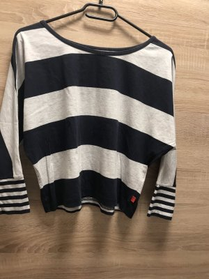CFL Camicia cropped bianco-blu scuro