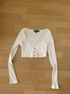 Motel Camisa recortada blanco