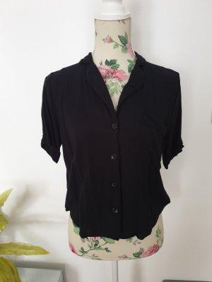 Crop Shirt, schwarze kurze Bluse von forever21