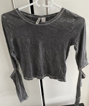 H&M Divided Cropped shirt grijs