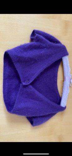 Crop Strickjacke mit kurzen Ärmeln