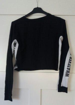 New Yorker Cropped Shirt white-black