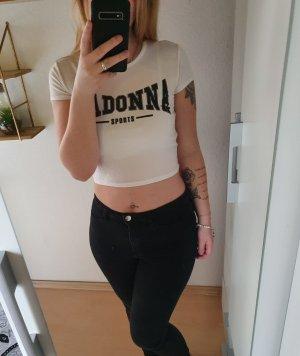 Madonna Cropped shirt wit-zwart