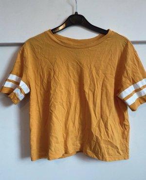 H&M Camisa recortada naranja dorado
