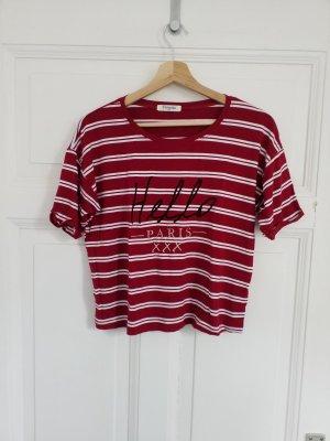 T-shirt court rouge