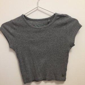 crop t-shirt grau