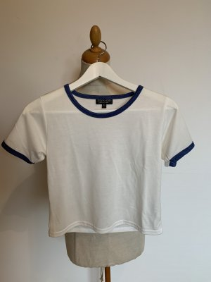 Topshop Cropped shirt wit