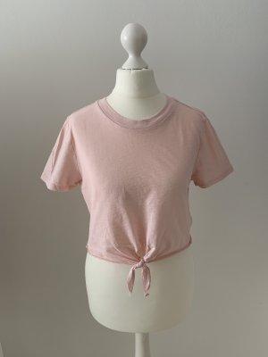 Topshop Petite Camisa recortada rosa
