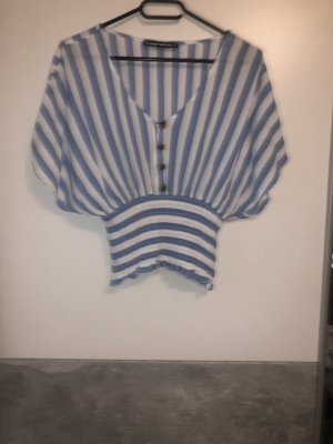 Tally Weijl Cropped shirt wit-azuur