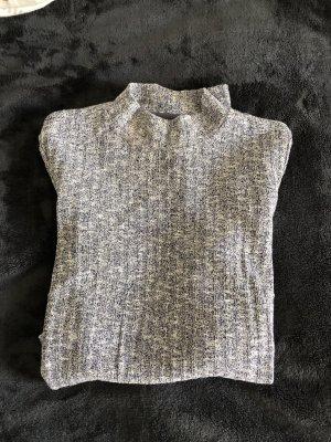 Vero Moda Top con colletto arrotolato grigio ardesia