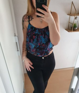 Tally Weijl Cropped Top black-blue