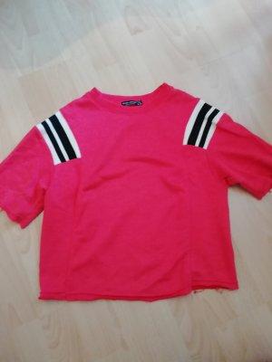 Bershka Camicia cropped rosso