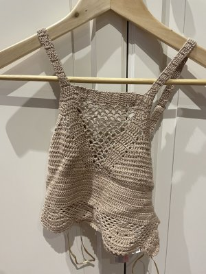 Tally Weijl Crochet Top beige
