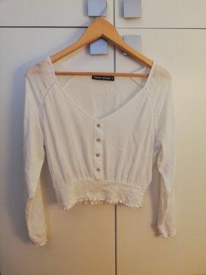 Tally Weijl Cropped Shirt white