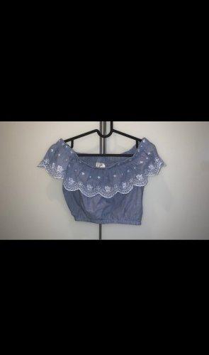 H&M Cropped Shirt azure