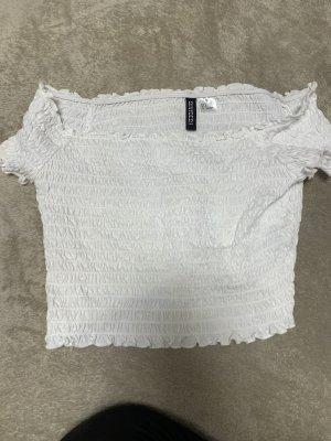 H&M Divided Top o skróconym kroju biały