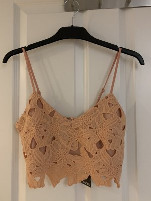 Bohoo Cropped Top apricot