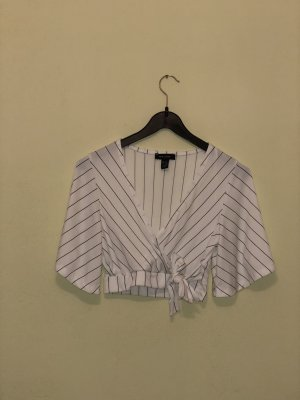 New Look Cropped shirt wit-zwart