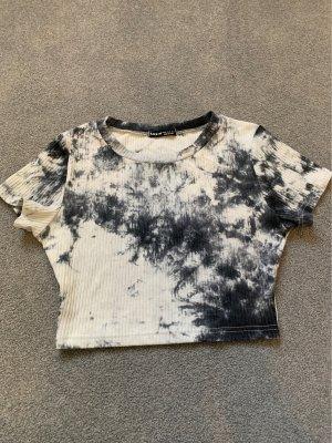 Sheinside Top corto bianco-nero