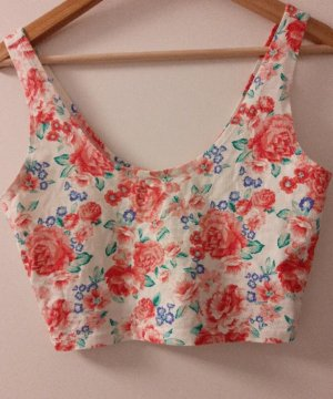 Forever 21 Cropped top wit-rood