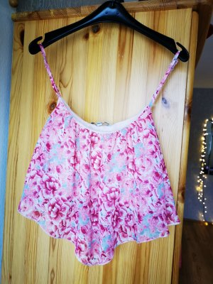 Crop Top Blumenprint