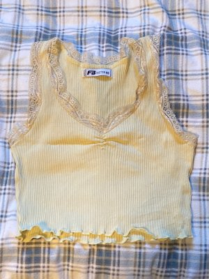 New Yorker Lace Top pale yellow