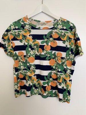 Zara Trafaluc T-shirt court multicolore