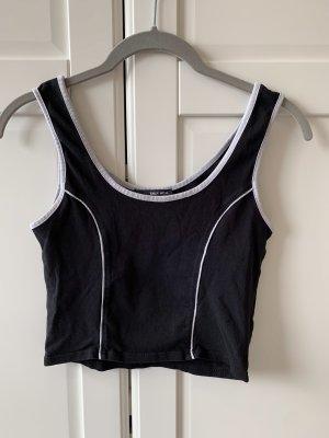 Crop Top cropped Shirt Oberteil Streifen schwarz weiß Tally Weijl S 36 M 38