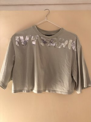 Ivy Park Cropped Top silver-colored-baby blue