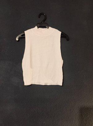 H&M Crop-top blanc cassé