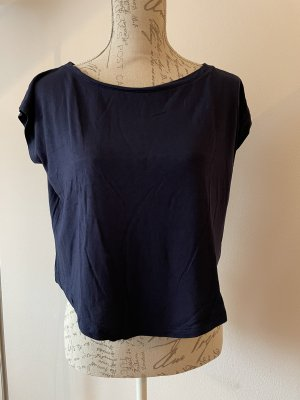 Gap Camicia cropped blu scuro-blu