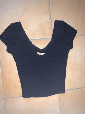 Hollister Cropped Shirt dark blue