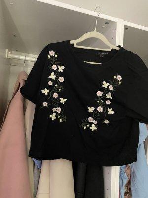 Tally Weijl Cropped Shirt black-white