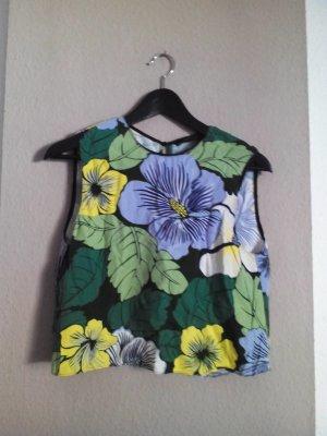 Crop-Top mit Blumendruck, Grösse M fäll kleiner aus
